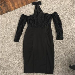 Dresses & Skirts - Black Dress with Lace